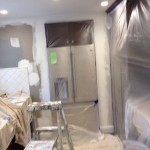 Before Painting of Kitchen & Protection of Cabinets